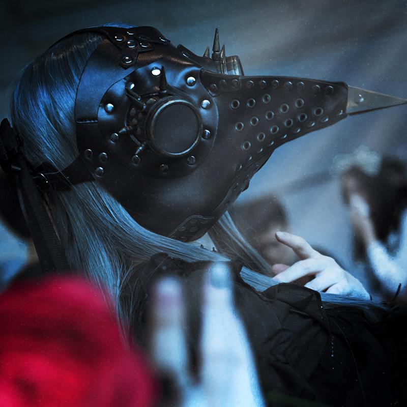 蒸汽朋克瘟疫鸟长嘴鸟面具